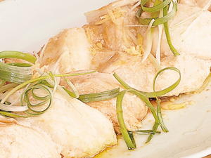 Braided Fish Steamed with Ginger and Green Onions