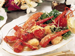 Lobster with Ginger and Scallions