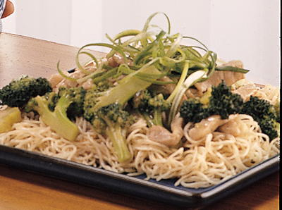 Stir-Fried Pork and Broccoli with Egg Noodles