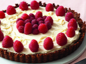 Raspberry-White Chocolate Tart