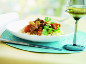 Tunisian Lamb Tagine with Toasted Almonds and Couscous