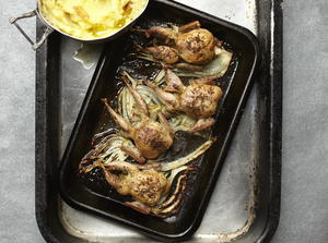 Roast Quail With Fennel