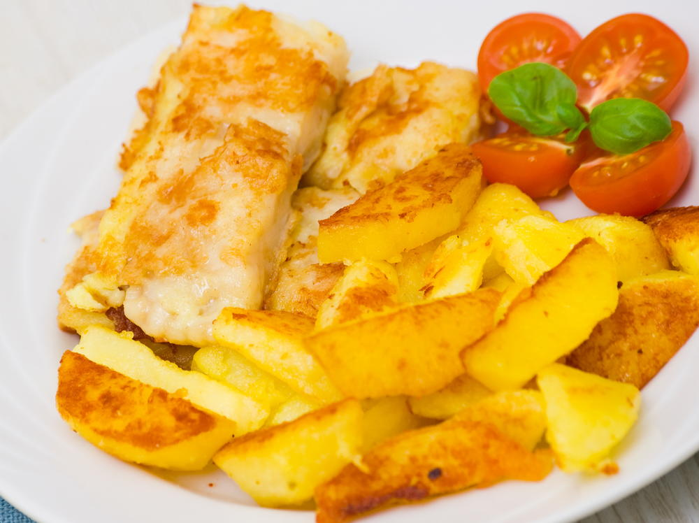 Baked fish n 39 chips with honey vinegar for Baked fish and chips