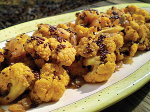 Indian Cauliflower with Black Mustard Seeds