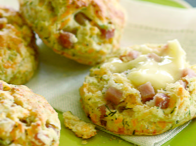 Cheddar Ham and Dill Biscuits