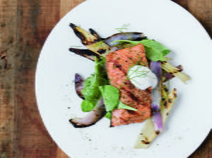 Grilled Sockeye Salmon with Fennel Two Ways