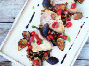 Seared Albacore with Ratatouille