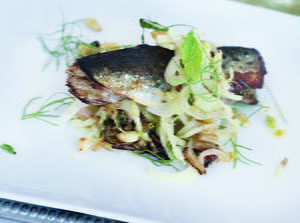 Skillet Sardines with Fennel, Currant and Pine Nut Salad
