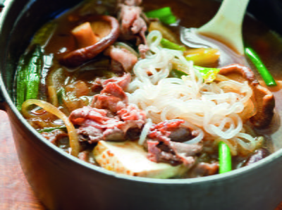 Japanese Beef And Vegetable Hot Pot