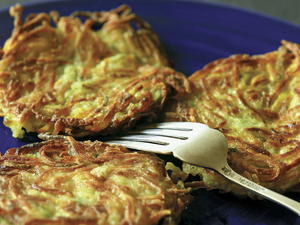 Pan-Fried Sage-Scented Zucchini Pancakes