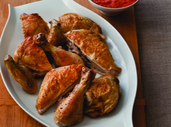 Crispy Butterflied Roast Chicken