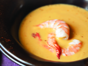 Creamy Chickpea Soup with Shrimp and Anise Seed