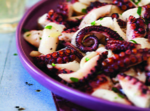Marinated Octopus Salad with Olive Oil and Lemon