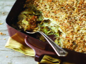 Potatoes Layered with Artichokes and Breadcrumbs