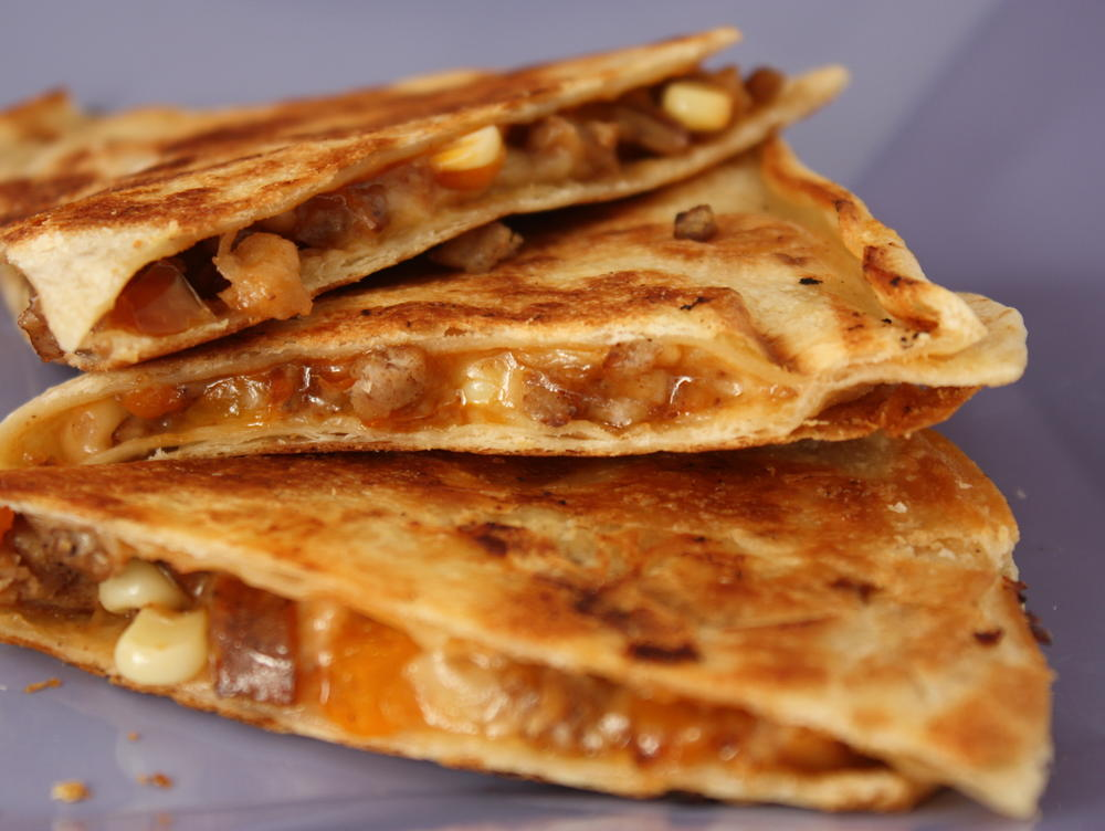 Quick Apple Sausage Quesadillas | Cookstr.com