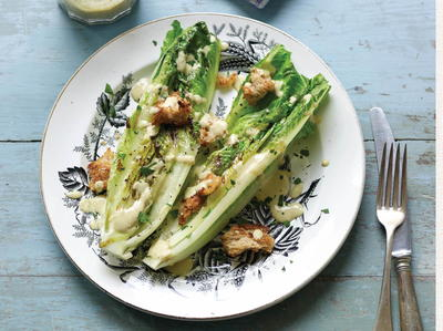 Grilled Vegan Caesar Salad