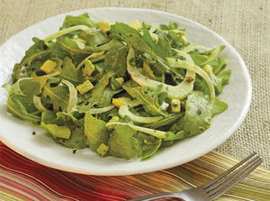 Fennel, Avocado, and Rocket Salad with Lemon-Caper Vinaigrette