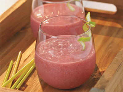 Raspberry Lime Chia Cooler