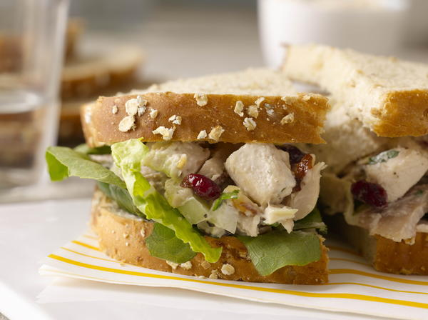 Chicken Salad with Dried Cranberries Fennel  Toasted Almonds