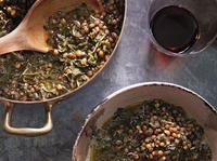 Lentils with Kale and Shallots