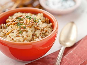 Quinoa Pilaf with Toasted Sunflower Seeds