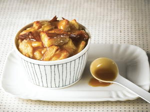 Classic Bread Pudding with Bourbon Caramel Sauce
