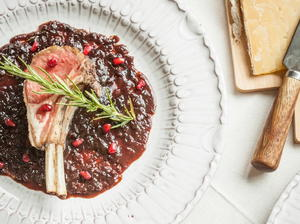 Rack of Lamb with Rosemary Pomegranate Sauce