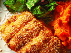 Spicy Chipotle Cornmeal-crusted Fish