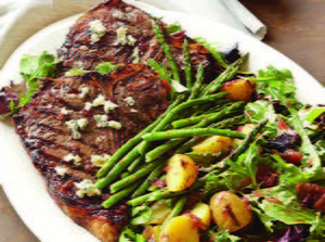 Port-Glazed Grilled Porterhouse Salad