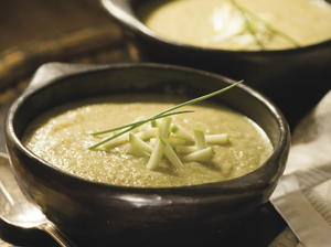 Broccoli, Leek, and Apple Soup