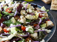 Greek Chicken Panzanella with Honey-Lemon Vinaigrette