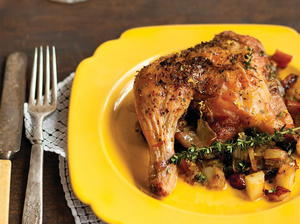 Lemon-Roasted Chicken with Caramelized Onions & Apples
