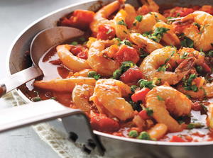 Spicy Skillet Shrimp