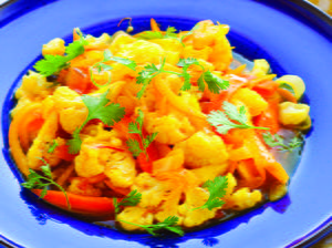 Saffron-Spiced Cauliflower