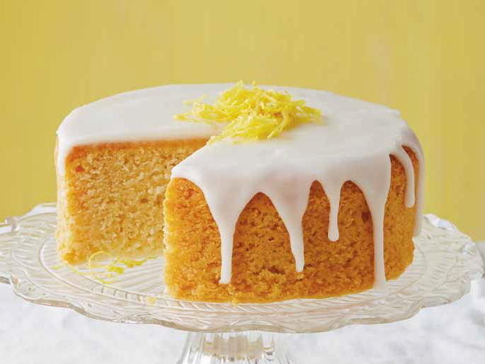 Lemon Cream Cheese Pound Cake Glaze