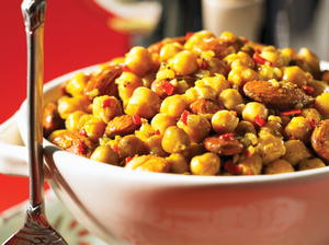 Hot and Spicy Chickpeas and Almonds