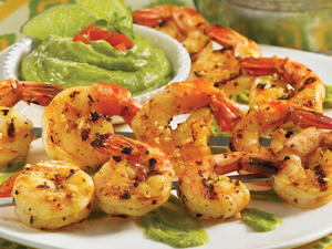 Grilled Shrimp with Avocado Butter