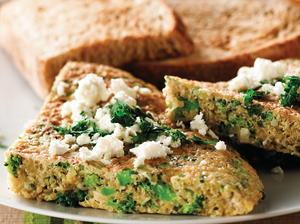 Broccoli, Quinoa and Feta Omelet