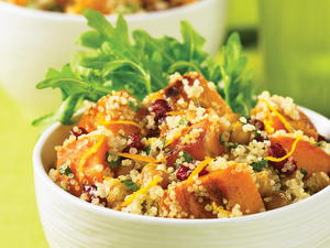 Warm Butternut Squash Salad with Crispy Chickpeas