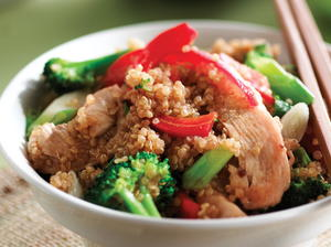 Broccoli, Chicken and Quinoa Stir-Fry
