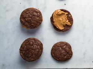 Big Chewy Brownie Cookies