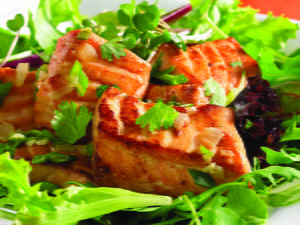 Lime-Splashed Salmon with Chiles and Cilantro