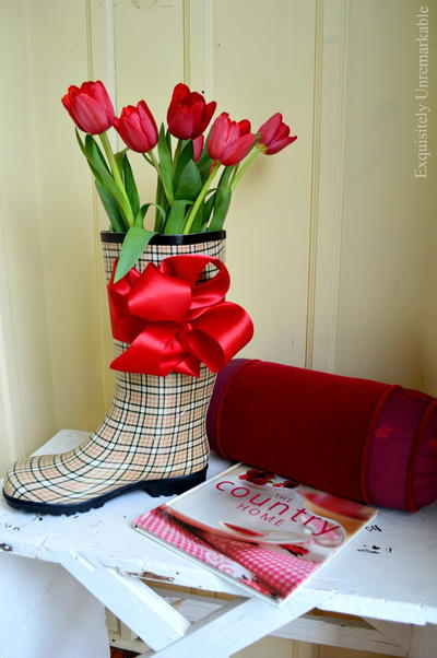 Rain Boot Floral Arrangement_1