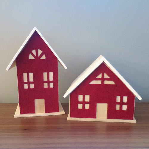 Felt Front Tabletop House Decor