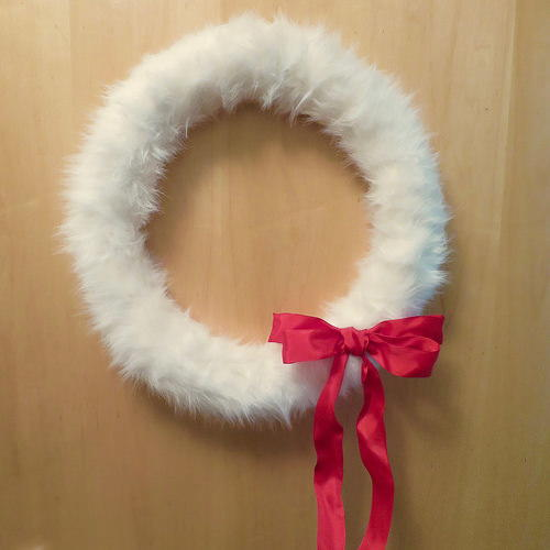 Fun Faux Fur DIY Wreath