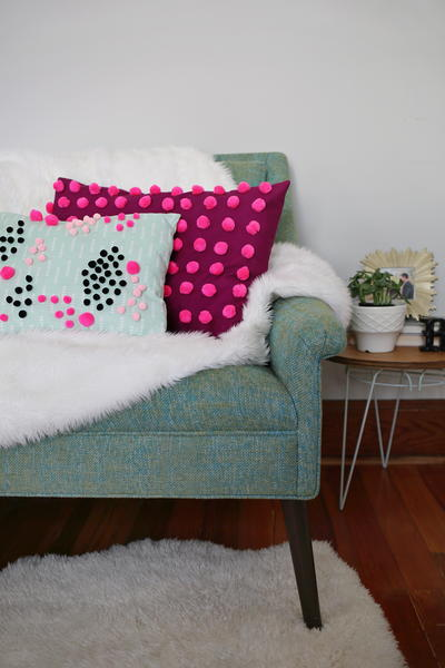 Perfect Pom Pom DIY Pillows