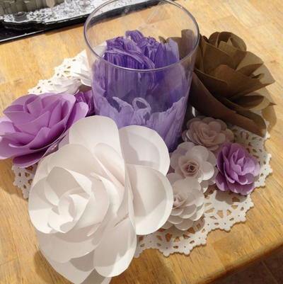 Any Size Cardstock Paper Flower Tutorial