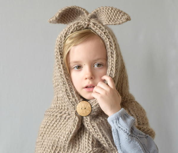 Hooded Bunny Cowl