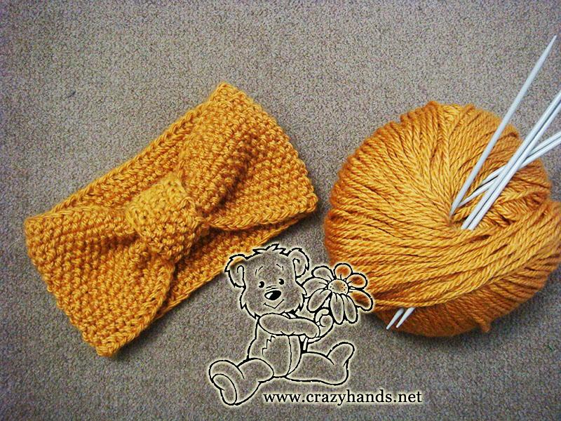 Seed Stitch Knitted Headband | AllFreeKnitting.com