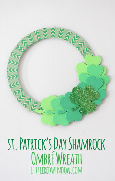 Ombre Shamrock Wreath